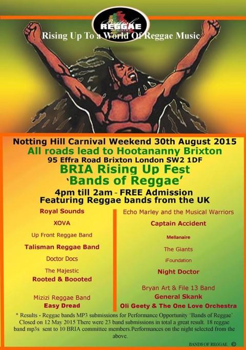 BRIA Rising Up Fest 'Bands of Reggae'